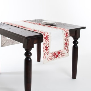 Embroidered and Cutwork Runner