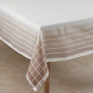 Ombre Striped Border Tablecloth