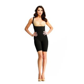 SlimMe by Memoi Braless Bodysuite Thigh and Tummy Shaper|https://ak1.ostkcdn.com/images/products/9409708/P16597573.jpg?impolicy=medium