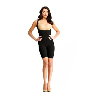 SlimMe by Memoi Braless Bodysuite Thigh and Tummy Shaper