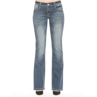 RED by Rose Royce Women's 'Chantall' Boot-cut Med Wash Jeans