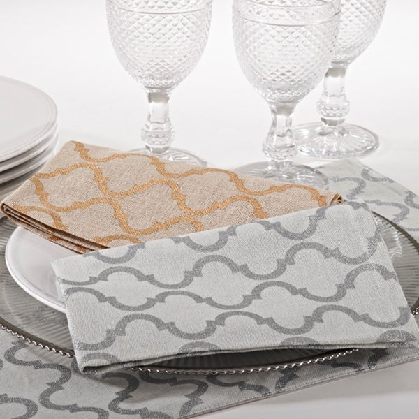 Delicieux Printed Moroccan Design Napkin (set Of 4)