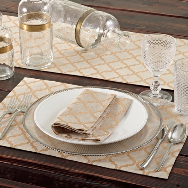 Printed Moroccan Design Table Runner   Free Shipping On Orders Over $45    Overstock.com   16597595