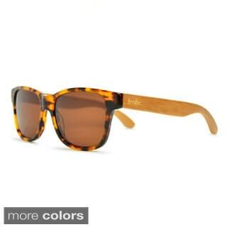 Tmbr Unisex 'Tortoise Style' Bamboo Sunglasses