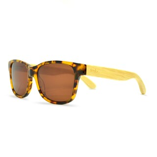 Tmbr Unisex 'Tortoise Style' Rayon from Bamboo Sunglasses