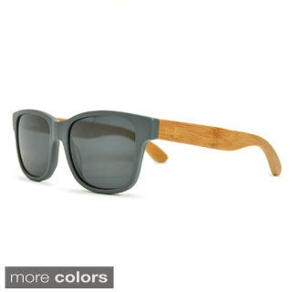 Tmbr. Rayon from Bamboo Style Unisex Matte Grey Sunglasses