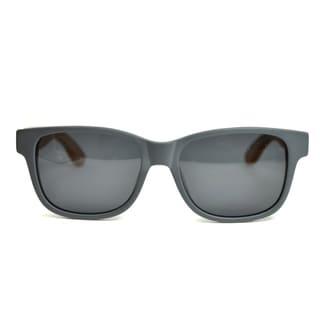 Tmbr. Bamboo Style Unisex Matte Grey Sunglasses