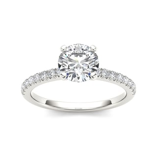 De Couer 14k White Gold 3/4ct TDW Diamond Engagement Ring