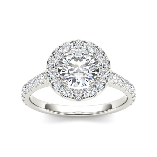 Shop De Couer 14k White Gold 1 12ct Tdw Diamond Halo. Handmade Wedding Rings. Cushion Shaped Engagement Rings. Pear Shaped Diamond Engagement Rings. Crime Syndicate Rings. Wedding Ceremony Wedding Rings. Rainbow Rings. Paloma Engagement Rings. Top Rated Engagement Rings