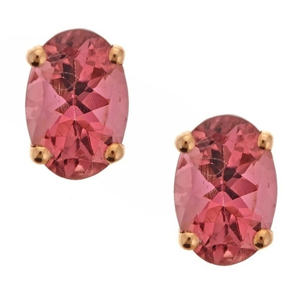 jewellery solid earrings grande products flower gold handmade studs stud pink wild designer pretty tourmaline