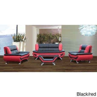 3-piece Bonded Leather Sofa/ Loveseat and Chair Set
