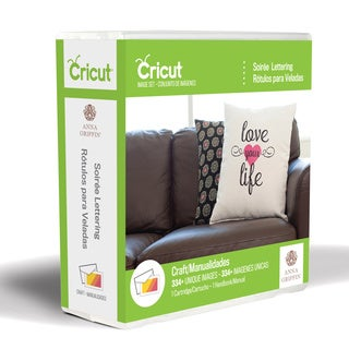 Cricut 'Soiree' Font Cartridge Lettering by Anna Griffin