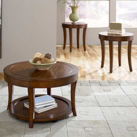 Casual Living Mahogany Stain Occasional Tables (Set of 3)