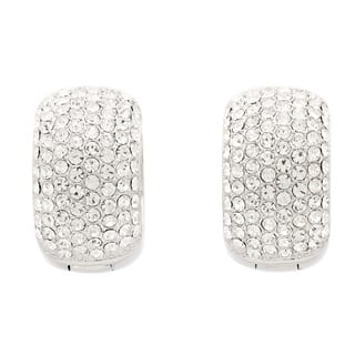 Pave Crystal Cuff Hoop Earrings https://ak1.ostkcdn.com/images/products/9409922/P16597850.jpg?impolicy=medium