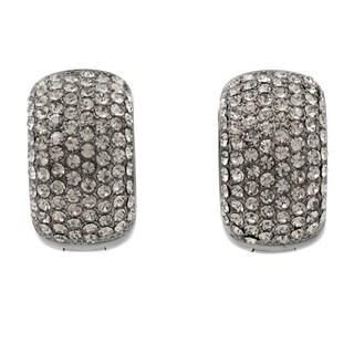 Pave Crystal Cuff Hoop Earrings