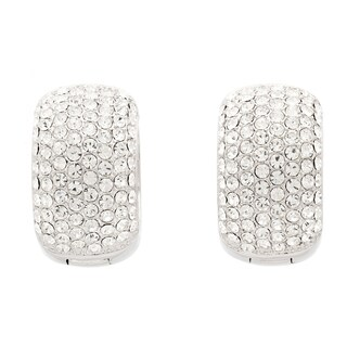 Pave Crystal Cuff Hoop Earrings (4 options available)
