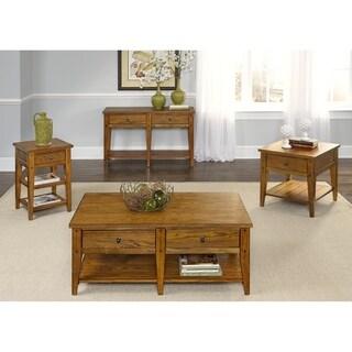 Liberty Lake House Transitional Oak End Table
