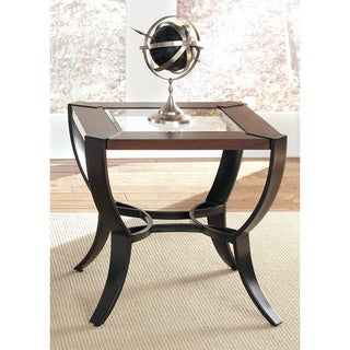 Contemporary Metal and Cherry End Table
