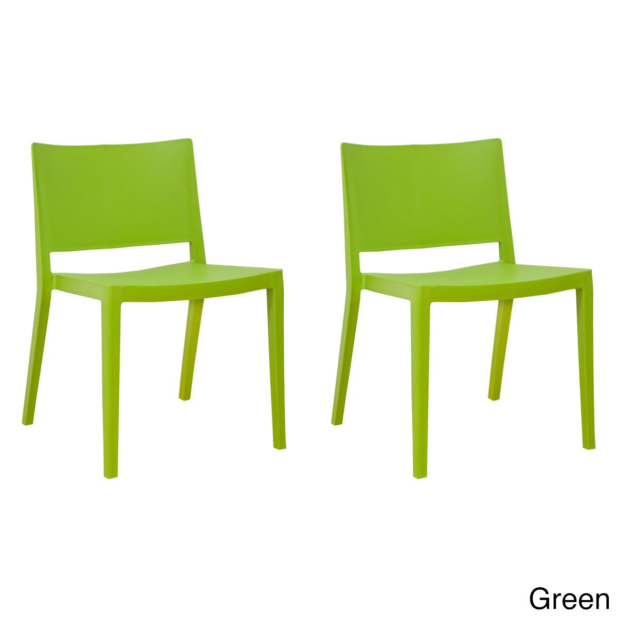Mod Made Plastic Stackable Elio Dining Side Chair (Set of...