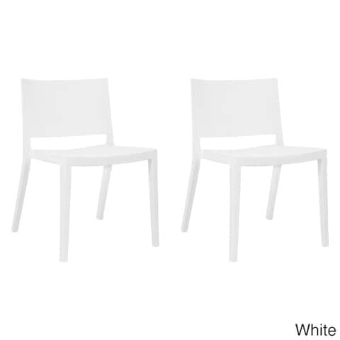 Mod Made Plastic Stackable Elio Dining Side Chair (Set of 2)