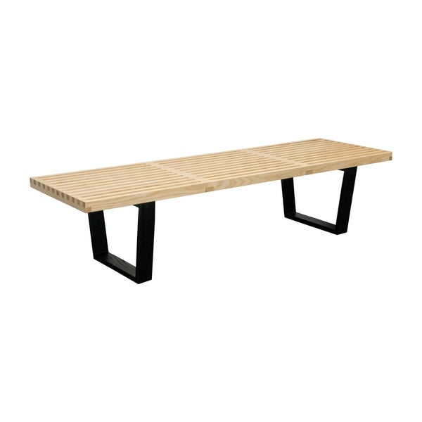 Mod Made 5 ft. Contemporary Natural Wooden Slat Bench (Natural)