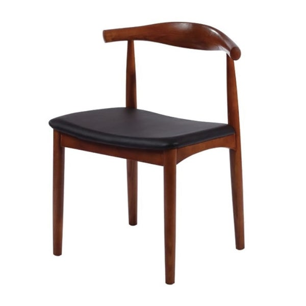 Mod Made Mid Century Modern Solid Wood Dining Side Chair In Walnut