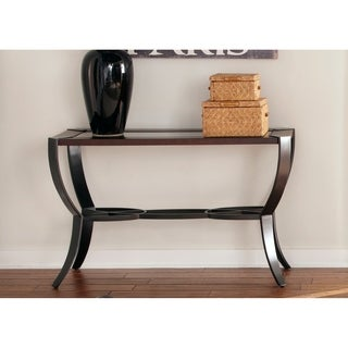 Liberty Contemporary Metal and Cherry Sofa Table