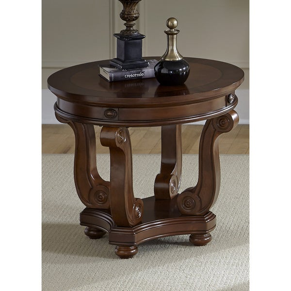Outdoor Victorian Table: Shop Liberty Victorian Dark Classic Cherry Round End Table