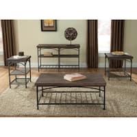 Franklin Rustic Brown Metal Tube Base Sofa Table