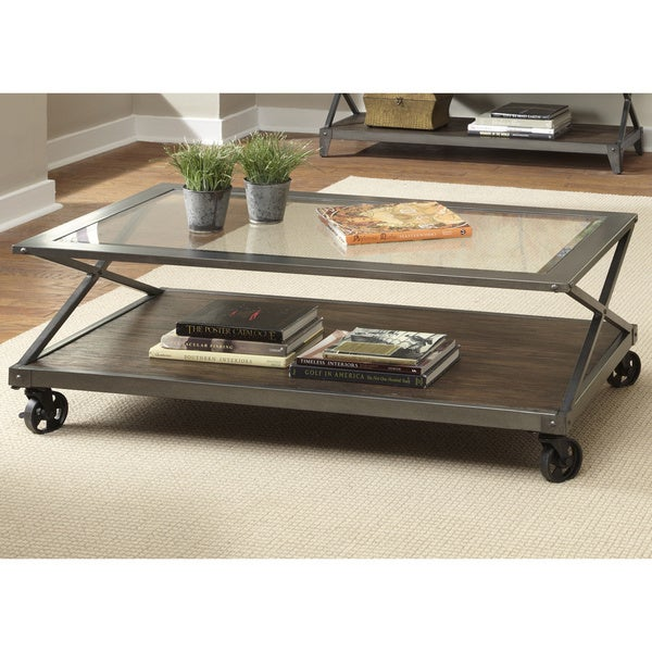 Liberty Avignon Contemporary Cocktail Table with Casters Free