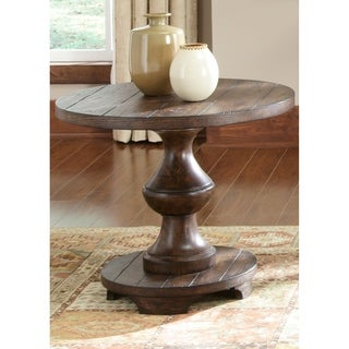 Traditional Spanish Kona Brown End Table
