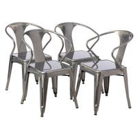 Tabouret Gunmetal Tabouret Stacking Chair (Set of 4)