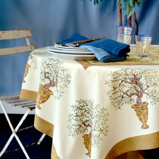 Couleur Nature Olive Tree Round Tablecloth