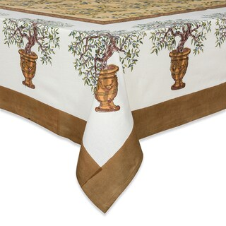 Couleur Nature Gold Olive Tree Square Tablecloth