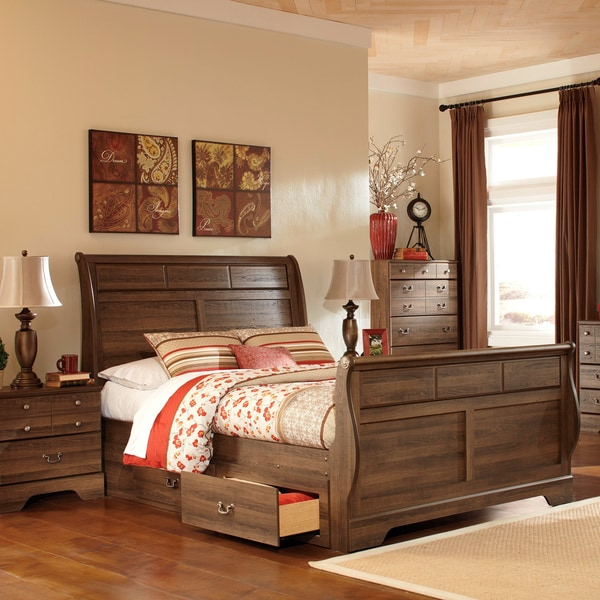 signature design by ashley allymore sleigh storage bed vintage bedroom set browse and shop for vintage bedroom