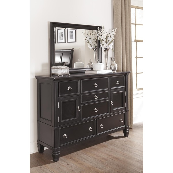 Signature Design by Ashley Greensburg Painted Black Dresser and Mirror Set  - Free Shipping Today - Overstock.com - 16597987 - Signature Design By Ashley Greensburg Painted Black Dresser And
