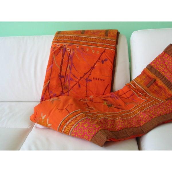 Bassetti Fong Cotton Throw Blanket