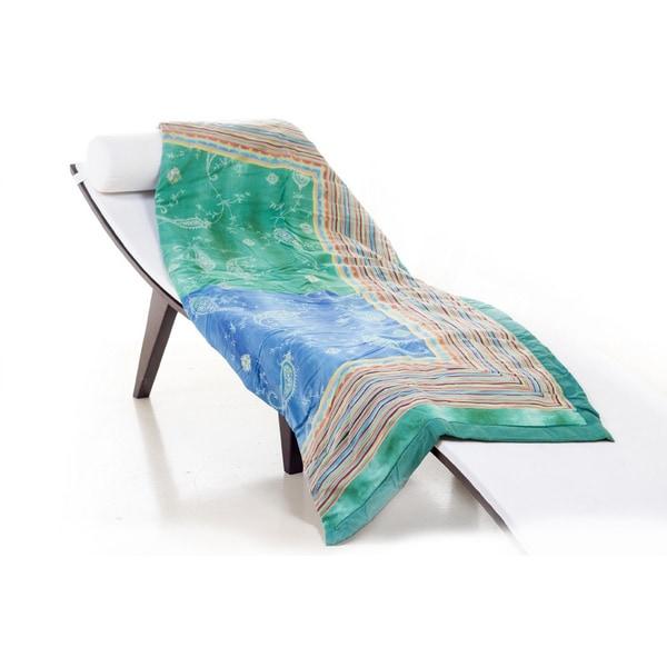 Bassetti Bibi Blue/ Green Throw Blanket