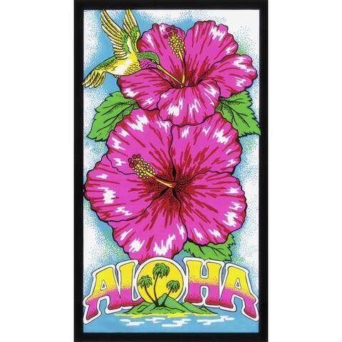 Leisureland Aloha Hibiscus Flower Beach Towel - Multi-color