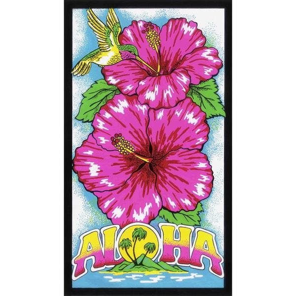 Leisureland Aloha Hibiscus Flower Beach Towel - Multi-color. Opens flyout.