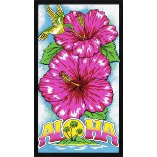 Leisureland Aloha Hibiscus Flower Beach Towel