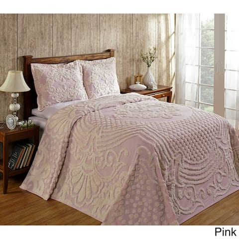 Better Trends Florence 100% Cotton Tufted Bedspread OR Shams