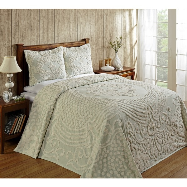 Shop Florence Soft Cotton Chenille Bedspread By Better Trends On