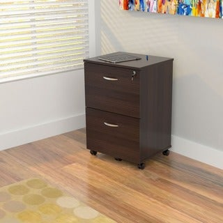Mobile 2-drawer Espresso File Cabinet