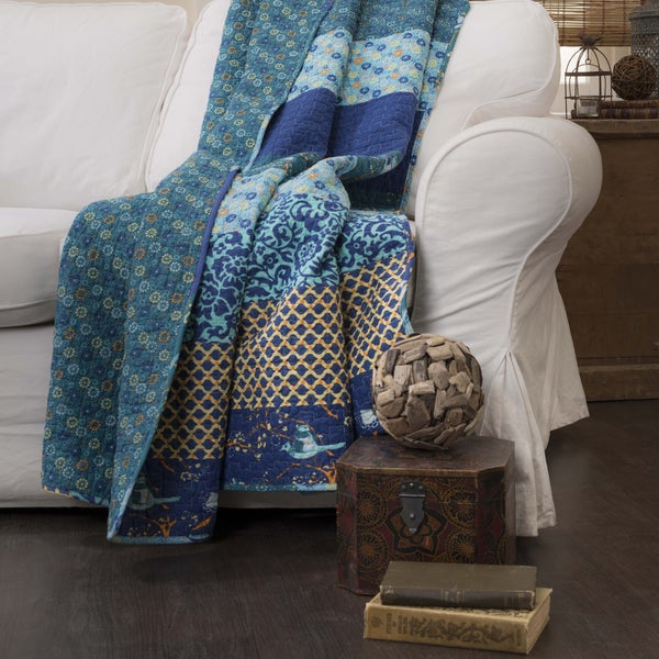 Lush Decor Royal Empire Quilted Throw Free Shipping On