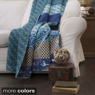 The Curated Nomad Presidio Blue Quilted Throw Blanket