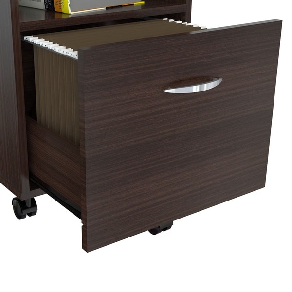 Mobile Single-drawer Espresso File Cabinet - Free Shipping Today ...