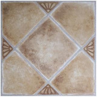 Achim Nexus 20-Piece Beige Clay Diamond with Accents 12x12 Self Adhesive Vinyl Floor Tile (20 Square Feet)