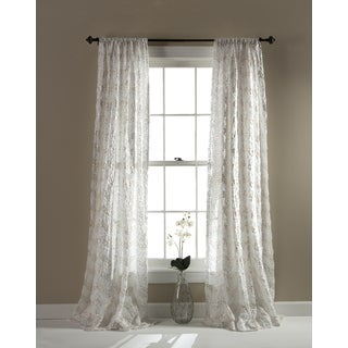 Lush Decor Giselle Ivory Curtain Panel