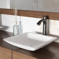 VIGO Linus Vessel Bathroom Faucet With Pop Up In Antique Rubbed Bronze